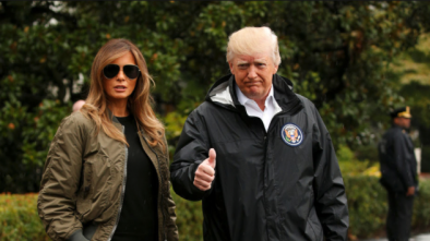 Trump and Melania Touch Down In Texas