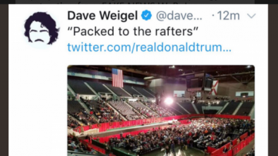 Trump Calls on Washington Post to Fire Writer Dave Weigel