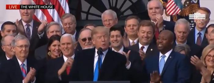 Trump, Congressional Republicans Celebrate Tax Victory 1