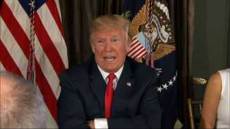 Trump: 'Fire and Fury' Comments May Not Have Been 'Tough Enough'