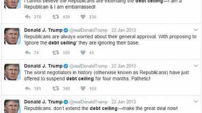Trump Flip-flops on Debt Ceiling