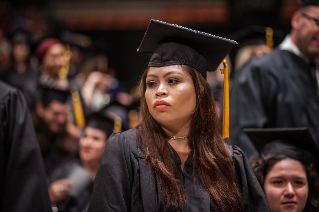 College graduation ceremony photo