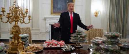 Trump Foots Fast-Food Bill for Visiting Football Champs Clemson