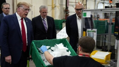 Trump Refuses to Wear Mask while Touring, Touting Ariz. Mask Factory 5