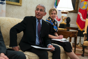 Trump Touts Emergence from Virus as Fauci Warns of COVID 'Rebound'