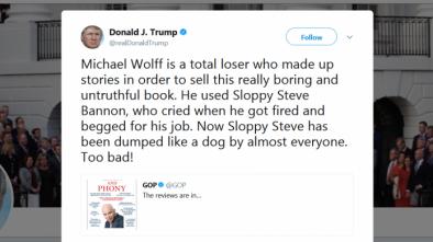 Trump Tweetstorm: I Am A Very Stable Genius