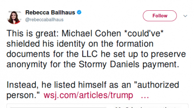 Trump's Lawyer Reportedly Used Private Co. to Pay Porn Star