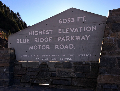 Blue Ridge Parkway sign photo