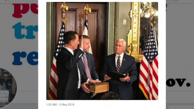 Vice President Pence Swears in Openly Homosexual Ambassador