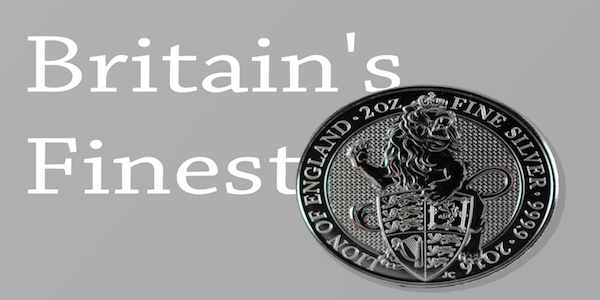 The 2 ounce silver bullion Queen Beast can be purchased from Money Metals.
