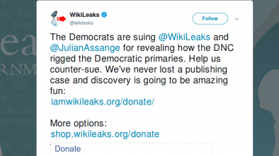 WikiLeaks To Countersue Democrat Party